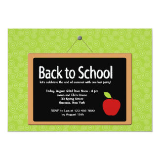 Back to School Blackboard Invitation