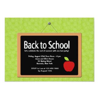 "Back to School Blackboard Invitation 5"" X 7"" Invitation Card"