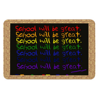 Back to School Blackboard Writing Rectangular Photo Magnet
