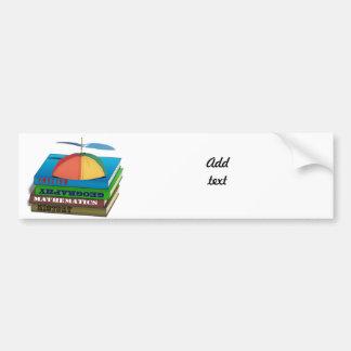 Back to School Book Stack Bumper Sticker