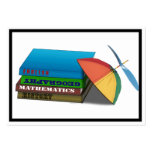 Back to School Book Stack w/Leaning Cap Business Card