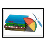Back to School Book Stack w/Leaning Cap Business Card Templates