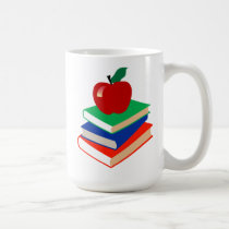 Back to School, Books and Apple Coffee Mug