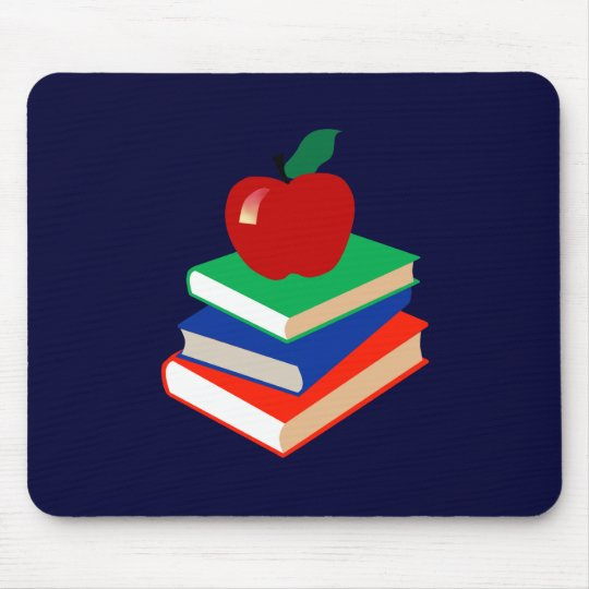 Back to School, Books and Apple Mouse Pad