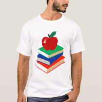 Back to School, Books and Apple T-Shirt