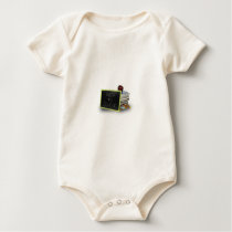 Back to school books baby bodysuit