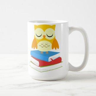 Back to School Bookworm Owl Mug