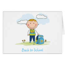 Back to school Boy Card