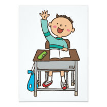 Back to School Boy Good Student Classroom Invitation