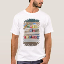 Back to school building blocks on stacked books T-Shirt