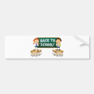 Back to School Car Bumper Sticker