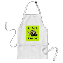 Back to School Bus Adult Apron