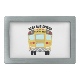 Back To School Bus Rectangular Belt Buckle