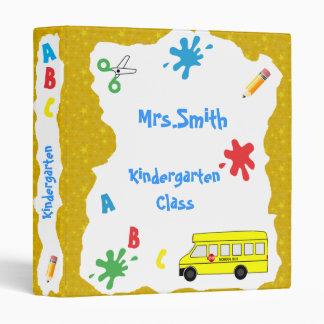 Back to School Bus Binder  Gold Stars