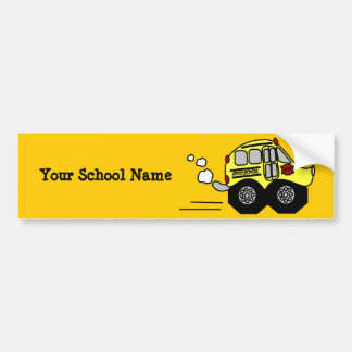 Back to School Bus Bumper Sticker