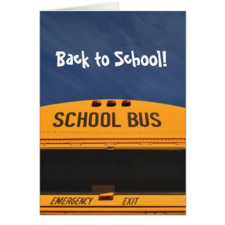 Back to School Bus Card