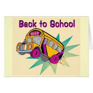 Back to School Bus-card Card