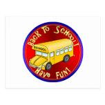 Back To School Bus Fun Postcard