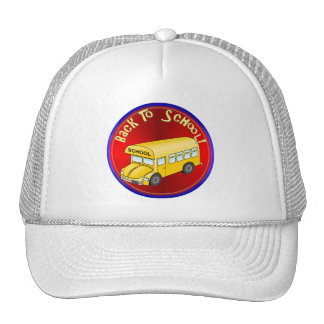 Back To School Bus Trucker Hats