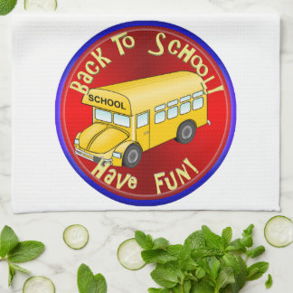 Back To School Bus - Have Fun Towels