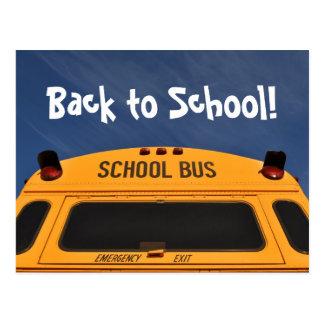 Back to School Bus Postcard