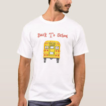 Back To School  Bus Youth White T-Shirt S M L