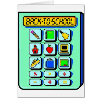 Back To School Calculator Card