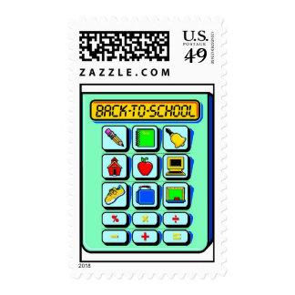 Back To School Calculator Stamp