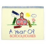 Back To School Calendar - A Year Of Schoolhouses