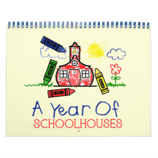 Back To School Calendar - A Year Of Schoolhouses