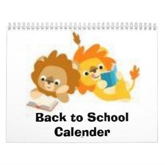Back to School Calender Calendar