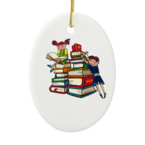 Back to school ceramic ornament