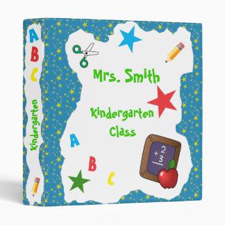 Back to School Chalkboard Binder  Blue Stars