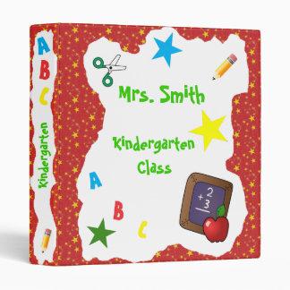 Back to School Chalkboard Binder Red Stars