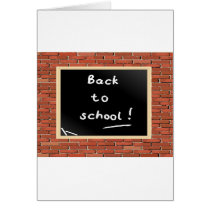 Back To School Chalkboard Greeting Cards
