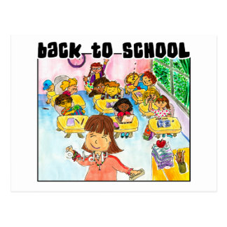 Back to School Classroom Postcard