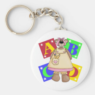 Back To School Clothes Basic Round Button Keychain