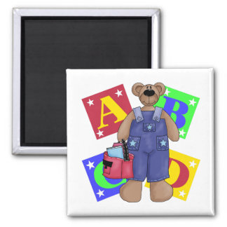 Back To School Clothes 2 Inch Square Magnet