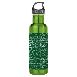 Back to School Collage Water Bottle