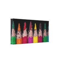 Back To School Colored Pencils Fizzy Photograph Canvas Print