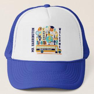 Back to School custom name hats
