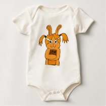 Back To School Cute Bunny Cartoon Baby Bodysuit