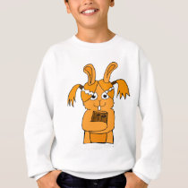 Back To School Cute Bunny Cartoon Sweatshirt