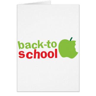 Back-To-School cute teacher design with an apple Card