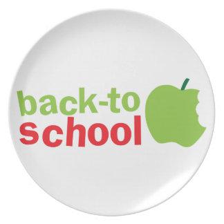 Back-To-School cute teacher design with an apple Dinner Plate