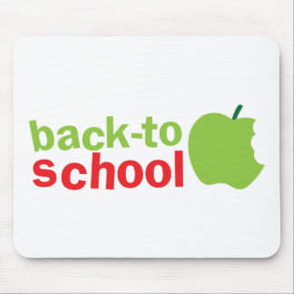 Back-To-School cute teacher design with an apple Mouse Pad