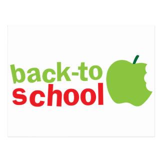 Back-To-School cute teacher design with an apple Postcard