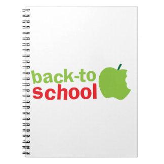 Back-To-School cute teacher design with an apple Spiral Notebook