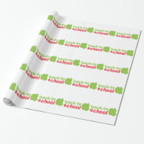 Back-To-School cute teacher design with an apple Wrapping Paper