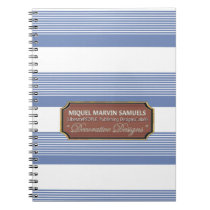 Back to School Decorative Blue White Notebook